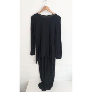 Zara Long Sleeve High-Low Top Long Back Size Small
